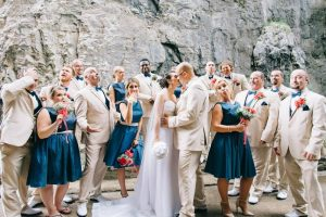 Bridal Party at Bridge