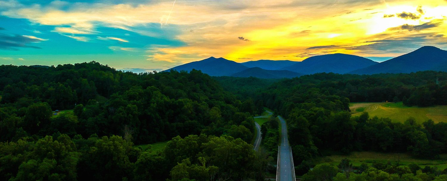 Sunset Over the Blue Ridge Parkway