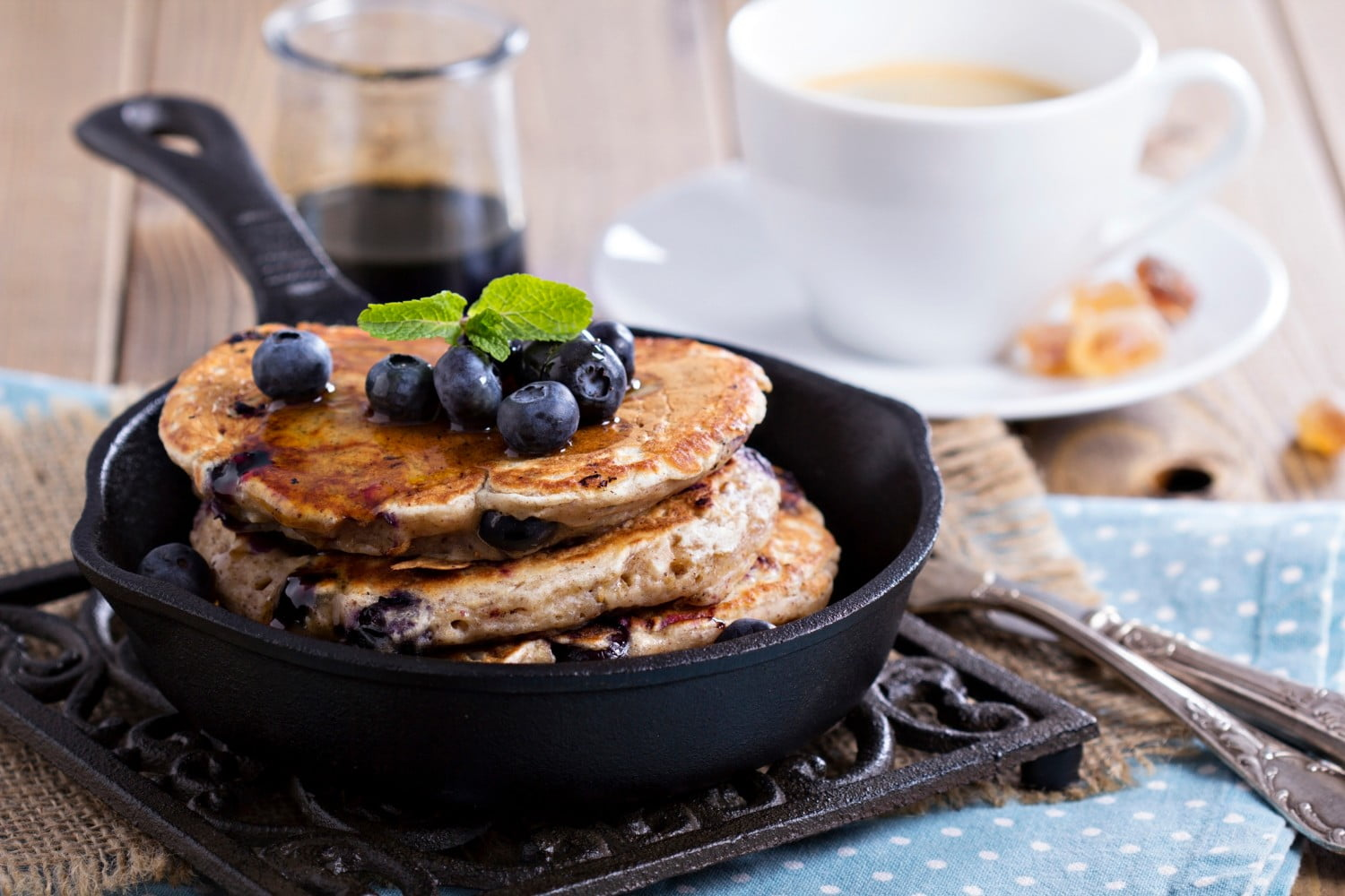 Blueberry pancakes at the Colonial Dining Room, one of the best Natural Bridge restaurants