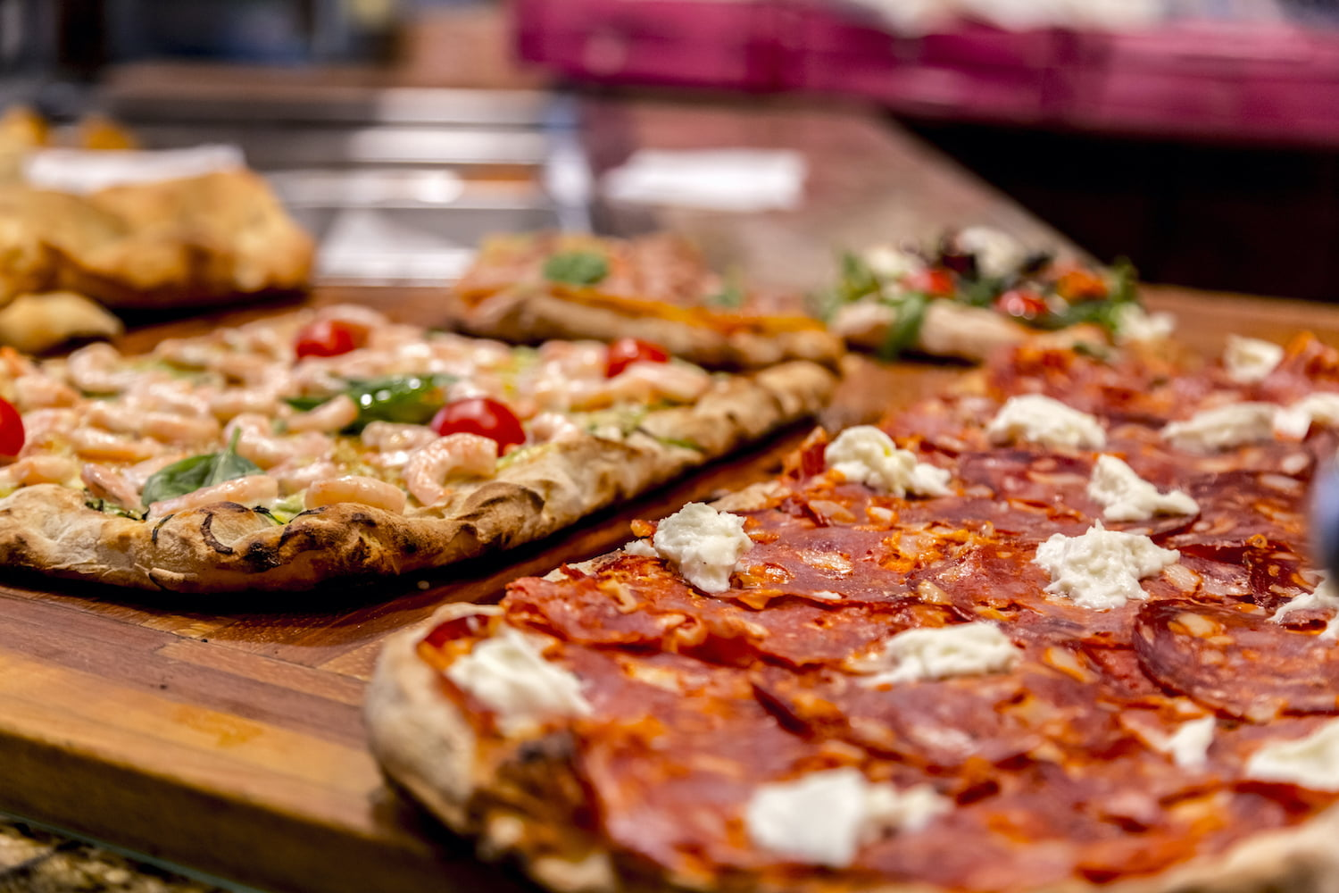 Flatbread pizzas at the Colonial Dining Room, one of the best places to eat in Natural Bridge