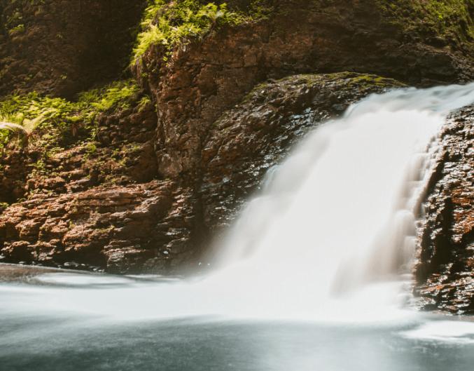 View of a waterfall near Natural Bridge, VA
