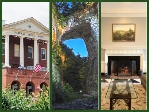 3 Pictures of Natural Bridge and Hotel