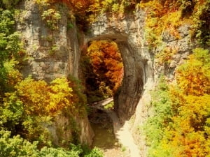Natural Bridge in the Fall