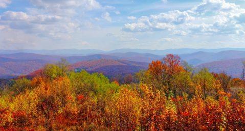 Virginia Mountains in Fall